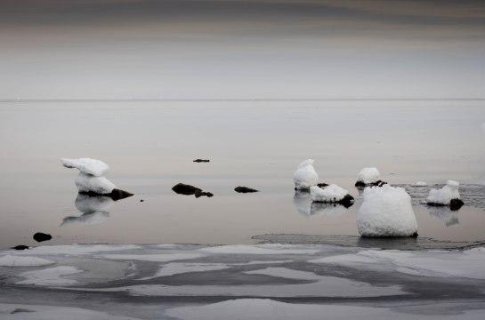 Baie des Chaleurs glaces paysage  hiver -3103